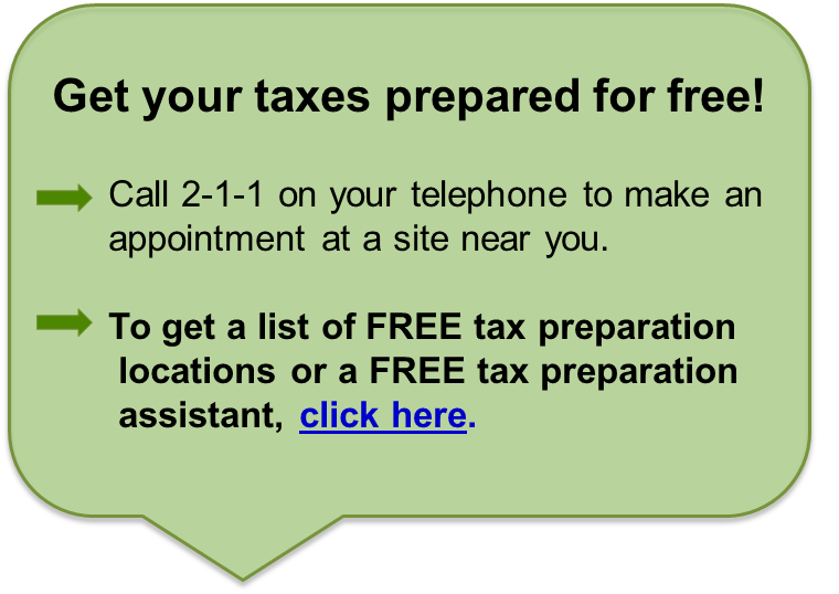 Free Preparation Of Federal Nys Income Tax Returns United Way Of