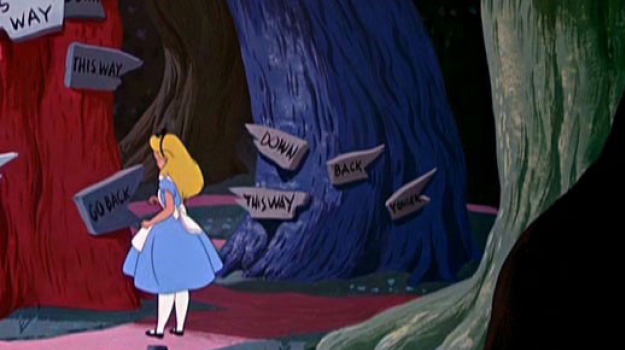 Alice in Wonderland Tree of Decisions