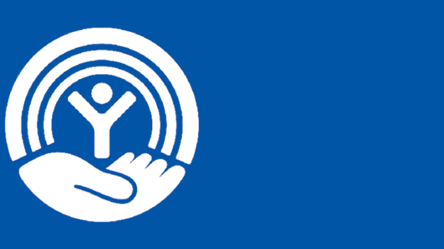 United Way Circle logo Blue Background